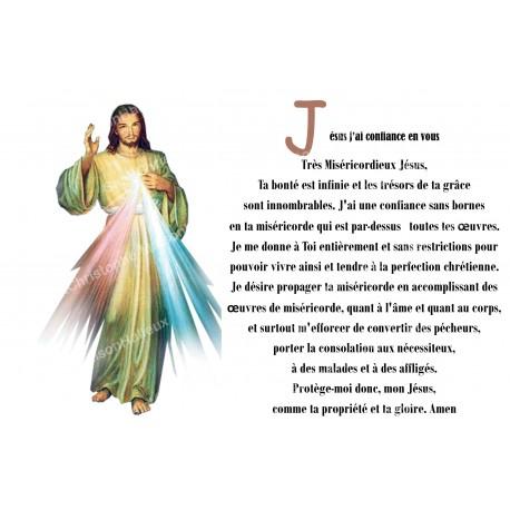 Autocollant bougie de neuvaine avec prière français - christ miséricordieux
