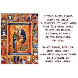 Novena Candle Sticker with Prayer  - Our Lady of the Rosary