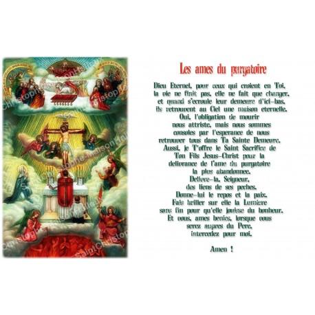 Autocollant bougie de neuvaine avec prière français - âmes du purgatoire