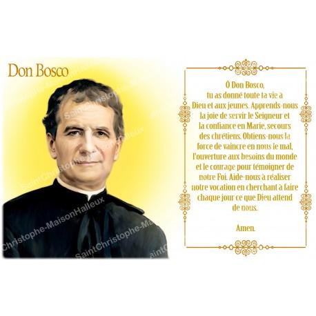Autocollant bougie de neuvaine avec prière français - Don Bosco