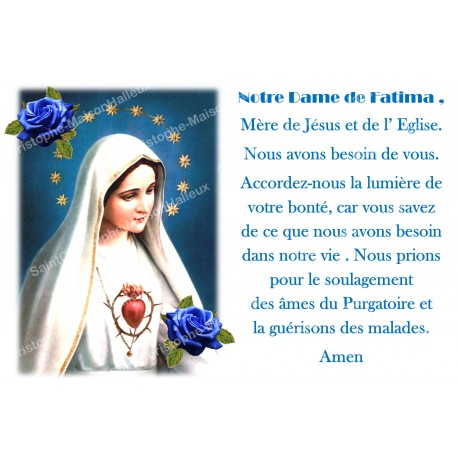 Autocollant bougie de neuvaine avec prière français - Fatima