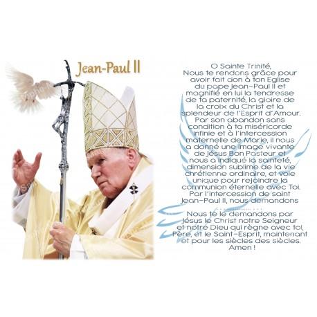 Autocollant bougie de neuvaine avec prière français - jean paul II colombe