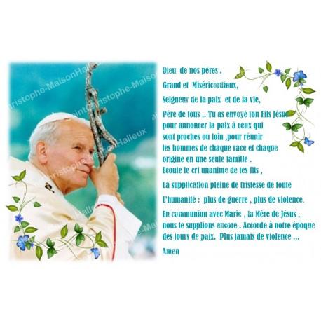 Autocollant bougie de neuvaine avec prière français - jean paul II