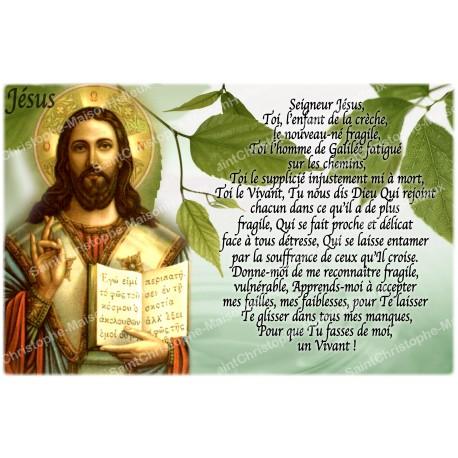 Autocollant bougie de neuvaine avec prière français - Jésus 1