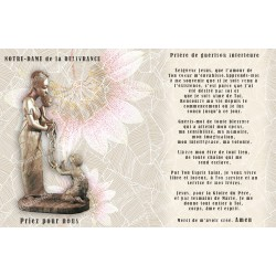 sticker with French  prayer - Our Lady of liberation
