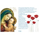 sticker with French  prayer - Our Lady of Good Counsel