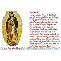 Autocollant bougie de neuvaine avec prière français - Notre Dame de la Guadaloupe