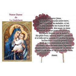 sticker with French  prayer -  Our Lady of Healing