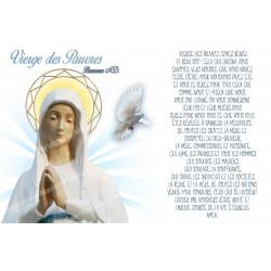 Autocollant bougie de neuvaine avec prière français - Vierge des pauvres