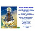 sticker with French  prayer - Our Lady of Aparecida