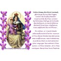 sticker with French  prayer - Our Lady of Mount Carmel 1