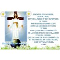 Autocollant bougie de neuvaine avec prière français - Notre Dame de tous les peuples