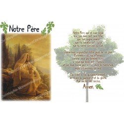 sticker with French  prayer - Our Father