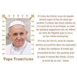 Autocollant bougie de neuvaine avec prière français - Pape François 2