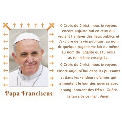 sticker with French  prayer - Pope Francis