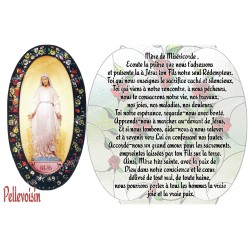 sticker with French  prayer - Pellevoisin