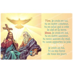 sticker with French  prayer -  Father, Son, Holy Spirit