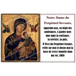 Autocollant bougie de neuvaine avec prière français - Notre Dame du perpetuel secours