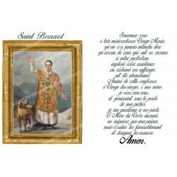 Autocollant bougie de neuvaine avec prière français - Saint Bernard