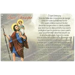 Autocollant bougie de neuvaine avec prière français - Saint Christophe