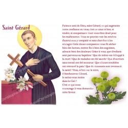 Autocollant bougie de neuvaine avec prière français - Saint Gerard
