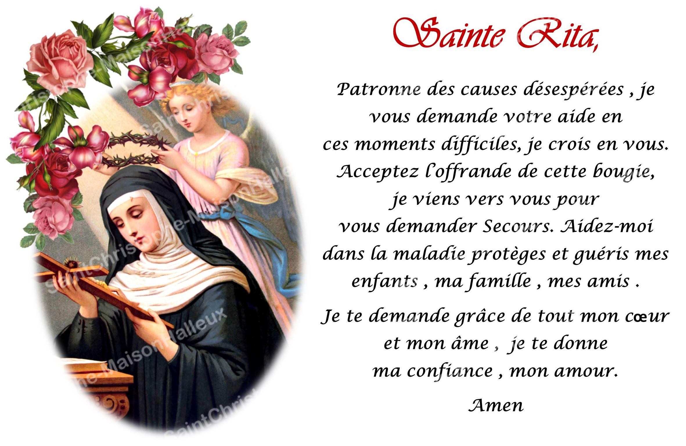 Connu Autocollant bougie de neuvaine avec prière français - Sainte Rita  ZH98