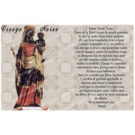 Autocollant bougie de neuvaine avec prière français - Vierge Noire