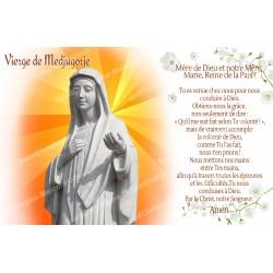 Autocollant bougie de neuvaine avec prière français - Vierge de Medjugorje 1