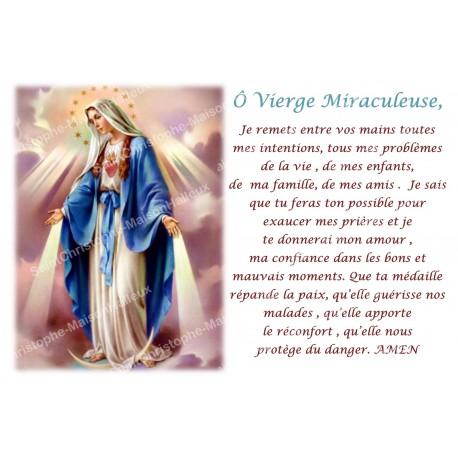 Autocollant bougie de neuvaine avec prière français - Vierge Miraculeuse 1