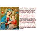 sticker with French  prayer - Our Lady of Perpetual Help
