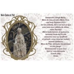 sticker with French  prayer - our lady of mercy