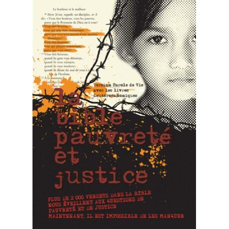 Bible Pauvreté et Justice - Catholique