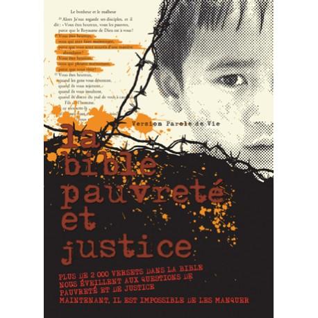 Bible Pauvreté et Justice - Protestante