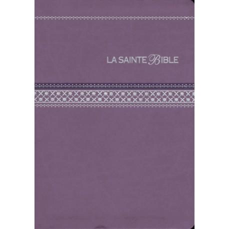 La Sainte Bible - Segond 1910 - Simili cuir mauve