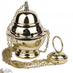Encensoir en cuivre avec chaîne