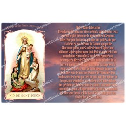 sticker with french prayer - Our lady from Montligeon