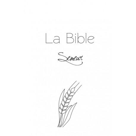 La Bible Semeur Gros caractères rigide blanche tranche dorée