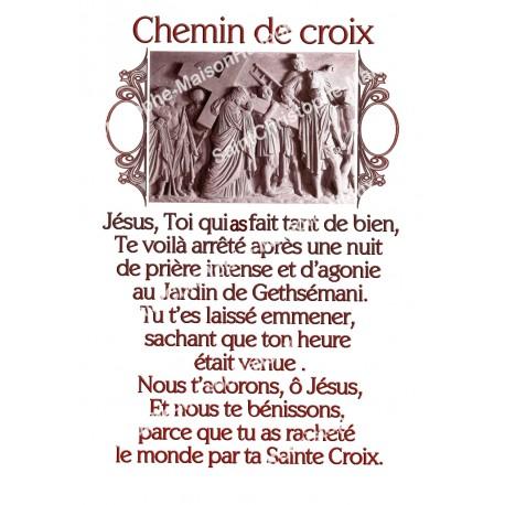 """Autocollants Rectangulaires - """"Chemin de croix"""" - 8 pièces - Français"""