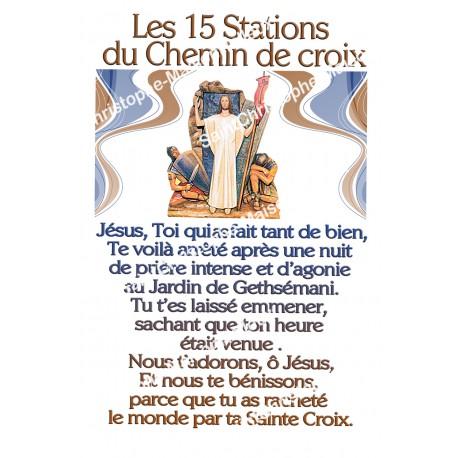 """Autocollants Rectangulaires - """"Chemin de croix 2"""" - 8 pièces - Français"""