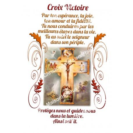 """Autocollants Rectangulaires - """"Croix Victoire"""" - 8 pièces - Français"""