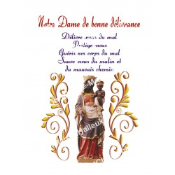 """Autocollants Rectangulaires - """"Notre-Dame de la bonne délivrance - 1"""" - 8 pièces - Français"""