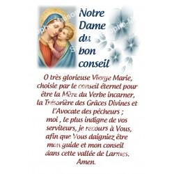 """Autocollants Rectangulaires - """"Notre-Dame du bon conseil"""" - 8 pièces - Français"""