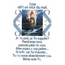"""Autocollants Rectangulaires - """"Père délivre-nous"""" - 8 pièces - Français"""
