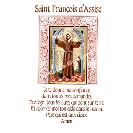"""Autocollants Rectangulaires - """"Saint Francois d'Assise"""" - 8 pièces - Français"""