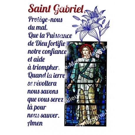 """Autocollants Rectangulaires - """"Saint Gabriel"""" - 8 pièces - Français"""