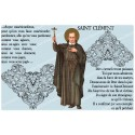 sticker with french  prayer - Saint clement