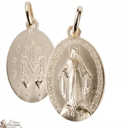 Medal of the Miraculous Virgin - 21mm - gold plated