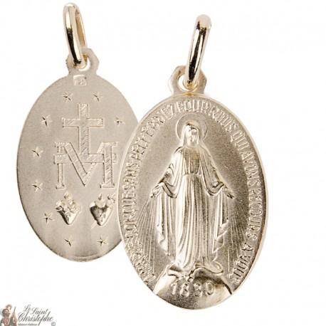 Médaille de la Vierge Miraculeuse 21 mm - plaqué or
