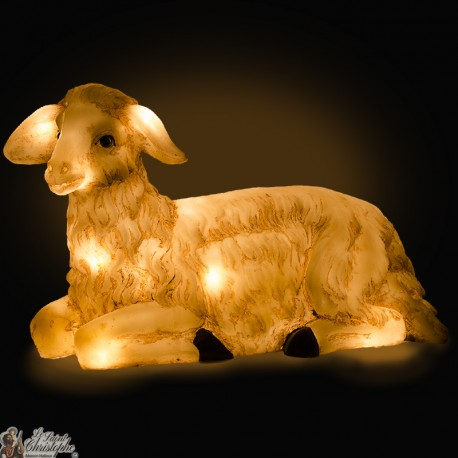 Luminous Sheep Christmas crib -  cm