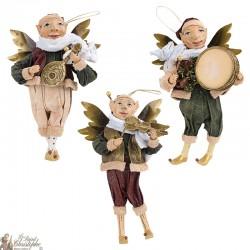 Elfes musiciens suspensions de Noël